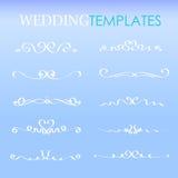 Καθορισμένα σύνορα γαμήλιων διάτρητων, στοιχείο γραμμών προτύπων για το σχέδιο, κομψές μορφές κυλίνδρων καμπυλών ελεύθερη απεικόνιση δικαιώματος
