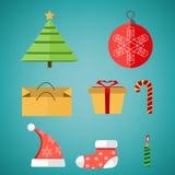 Καθορισμένα Χριστούγεννα Διανυσματική απεικόνιση