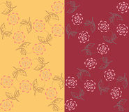 Καθορισμένα floral σχέδια Στοκ Εικόνες