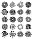 Καθορισμένα mandalas Στρογγυλό σχέδιο διακοσμήσεων Εθνικά διακοσμητικά στοιχεία διακοσμητικός τρύγος στ&o Ασιατική απεικόνιση σχε Στοκ Εικόνες