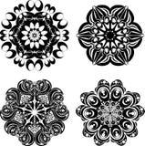 Καθορισμένα mandalas Στρογγυλό σχέδιο διακοσμήσεων επίσης corel σύρετε το διάνυσμα απεικόνισης Στοκ εικόνες με δικαίωμα ελεύθερης χρήσης