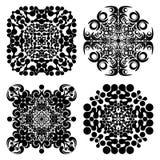 Καθορισμένα mandalas Στρογγυλό σχέδιο διακοσμήσεων επίσης corel σύρετε το διάνυσμα απεικόνισης Στοκ φωτογραφία με δικαίωμα ελεύθερης χρήσης