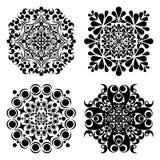 Καθορισμένα mandalas Στρογγυλό σχέδιο διακοσμήσεων επίσης corel σύρετε το διάνυσμα απεικόνισης Στοκ Φωτογραφία