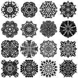Καθορισμένα mandalas Στρογγυλό σχέδιο διακοσμήσεων Στοκ φωτογραφίες με δικαίωμα ελεύθερης χρήσης