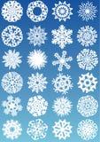 καθορισμένα snowflakes εικονιδί&omeg ελεύθερη απεικόνιση δικαιώματος