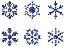 καθορισμένα snowflakes Στοκ φωτογραφία με δικαίωμα ελεύθερης χρήσης