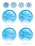καθορισμένα snowflakes Στοκ φωτογραφίες με δικαίωμα ελεύθερης χρήσης