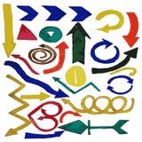 Καθορισμένα watercolor στοιχεία σχεδίου βελών ζωγραφισμένα στο χέρι Στοκ φωτογραφία με δικαίωμα ελεύθερης χρήσης