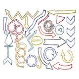 Καθορισμένα watercolor στοιχεία σχεδίου βελών ζωγραφισμένα στο χέρι Στοκ εικόνες με δικαίωμα ελεύθερης χρήσης