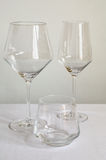 καθορισμένα wineglasses Στοκ φωτογραφία με δικαίωμα ελεύθερης χρήσης