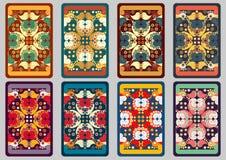 Καθορισμένες αναδρομικές κάρτες Στοκ Εικόνα