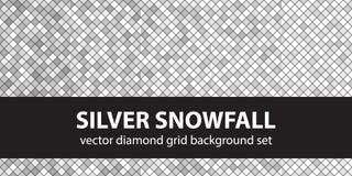 Καθορισμένες ασημένιες χιονοπτώσεις σχεδίων διαμαντιών Στοκ Φωτογραφία