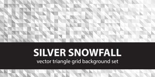 Καθορισμένες ασημένιες χιονοπτώσεις σχεδίων τριγώνων Στοκ εικόνα με δικαίωμα ελεύθερης χρήσης