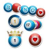 καθορισμένες αυτοκόλλητες ετικέττες bingo διανυσματική απεικόνιση