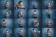 Καθορισμένες εικόνες αγοριών συλλογής εφήβων στο θέμα Στοκ φωτογραφία με δικαίωμα ελεύθερης χρήσης