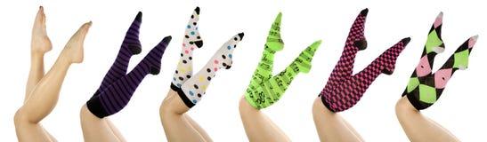καθορισμένες κάλτσες ψ&alp Στοκ φωτογραφία με δικαίωμα ελεύθερης χρήσης