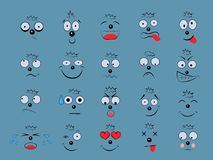 Καθορισμένες συγκινήσεις Του προσώπου έκφραση απεικόνιση αποθεμάτων