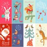 Καθορισμένες Χαρούμενα Χριστούγεννα και καλή χρονιά! Στοκ Εικόνα