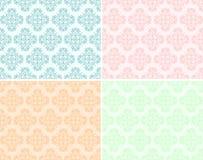 Καθορισμένη άνευ ραφής σύσταση με το floral σχέδιο Στοκ Φωτογραφίες