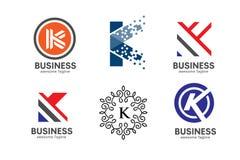 Καθορισμένη έννοια λογότυπων γραμμάτων Κ Στοκ εικόνα με δικαίωμα ελεύθερης χρήσης