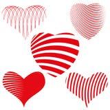Καθορισμένη απεικόνιση καρδιών Στοκ εικόνες με δικαίωμα ελεύθερης χρήσης