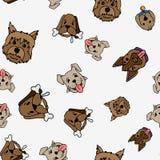 Καθορισμένη απεικόνιση σκυλιών Στοκ Εικόνες