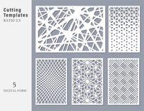 Καθορισμένη διακοσμητική κάρτα για την κοπή Αφηρημένος γεωμετρικός γραμμικός διανυσματική απεικόνιση