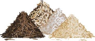 Καθορισμένη διανυσματική απεικόνιση σωρών ρυζιού Στοκ εικόνα με δικαίωμα ελεύθερης χρήσης