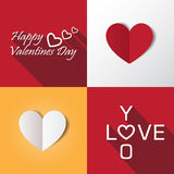 Καθορισμένη διανυσματική απεικόνιση εικονιδίων βαλεντίνων καρδιών Στοκ Εικόνες
