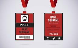 Καθορισμένη διανυσματική απεικόνιση σχεδίου καρτών ταυτότητας Τύπου Στοκ Φωτογραφίες
