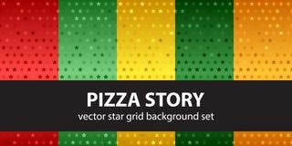 Καθορισμένη ιστορία πιτσών σχεδίων αστεριών άνευ ραφής διάνυσμα ανασκ& Στοκ εικόνες με δικαίωμα ελεύθερης χρήσης