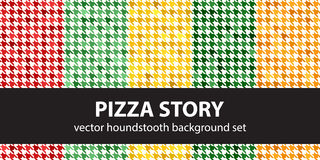 Καθορισμένη ιστορία πιτσών σχεδίων Houndstooth Στοκ Φωτογραφία
