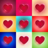 Καθορισμένη μεγάλη κόκκινη καρδιά Στοκ Εικόνα