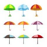 καθορισμένη ομπρέλα διανυσματική απεικόνιση