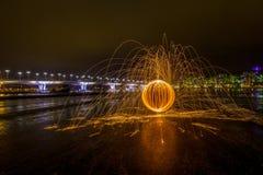 Καθορισμένη πυρκαγιά στο ρόλο Στοκ φωτογραφία με δικαίωμα ελεύθερης χρήσης