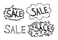 Καθορισμένη πώληση επιγραφών στο άσπρο υπόβαθρο Στοκ εικόνα με δικαίωμα ελεύθερης χρήσης