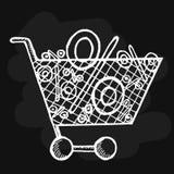 Καθορισμένη πώληση επιγραφών στο άσπρο υπόβαθρο Στοκ φωτογραφία με δικαίωμα ελεύθερης χρήσης