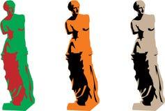 καθορισμένη σκιαγραφία η διανυσματική Αφροδίτη χρώματος απεικόνιση αποθεμάτων