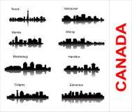 Καθορισμένη σκιαγραφία πόλεων στον Καναδά Στοκ φωτογραφία με δικαίωμα ελεύθερης χρήσης