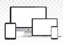 Καθορισμένη συσκευή με την άσπρη οθόνη Στοκ φωτογραφίες με δικαίωμα ελεύθερης χρήσης