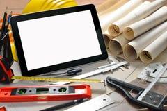 καθορισμένη ταμπλέτα οθόνης εικονιδίων υπολογιστών Στοκ Εικόνες