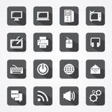 Καθορισμένη τεχνολογία app κινητή και εικονίδιο υπολογιστών ελεύθερη απεικόνιση δικαιώματος