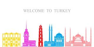 καθορισμένη Τουρκία Απομονωμένη αρχιτεκτονική της Τουρκίας στο άσπρο υπόβαθρο Στοκ φωτογραφίες με δικαίωμα ελεύθερης χρήσης