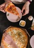 Καθορισμένη φωτογραφία τροφίμων πιτσών Στοκ Φωτογραφία
