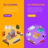 Καθορισμένη Isometric άποψη Vecrtical εμβλημάτων βιομηχανίας πετρελαίου και πόρων ενέργειας διάνυσμα ελεύθερη απεικόνιση δικαιώματος