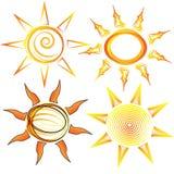 καθορισμένοι ήλιοι Στοκ εικόνες με δικαίωμα ελεύθερης χρήσης