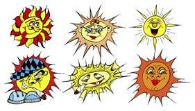καθορισμένοι ήλιοι στοκ φωτογραφία με δικαίωμα ελεύθερης χρήσης