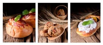Καθορισμένοι διάφοροι τύποι ψωμιών στοκ φωτογραφία