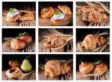 Καθορισμένοι διάφοροι τύποι ψωμιών στοκ εικόνα