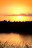 καθορισμένος ήλιος Στοκ φωτογραφίες με δικαίωμα ελεύθερης χρήσης